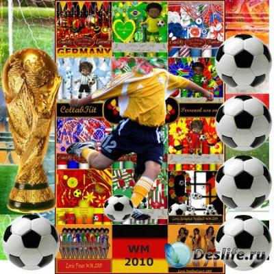 Сборник скрап-наборов для фотошопа посвящённых футболу