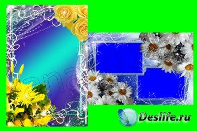 Рамка для фотошопа - Цветочная ч.6