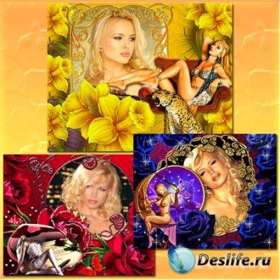Рамки для фотошопа - Фантазии с цветами
