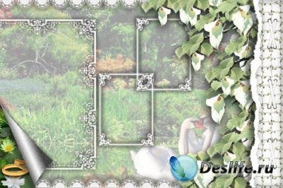 Background for wedding album - PSD