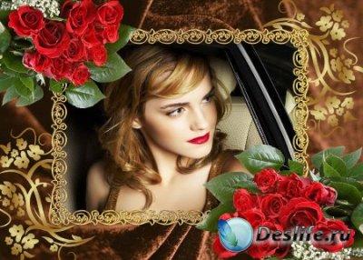Рамка для фотошопа – Букеты роз