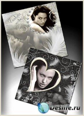 Рамки для фотошопа в чёрно-белом цвете