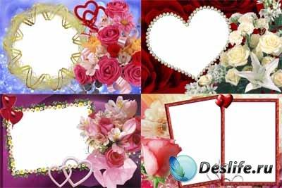Набор цветочных рамочек для фотошопа 3