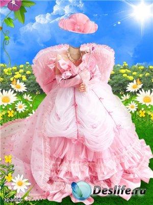 Детский костюм для фотошопа - Розовый ангелок