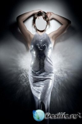Костюм для фотошопа – Женщина в серебре