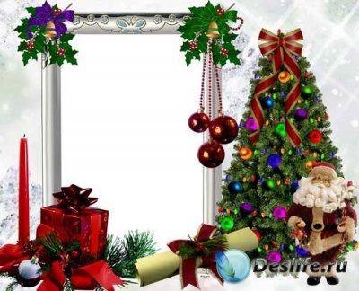 Рамка для фотошопа - Новогодняя