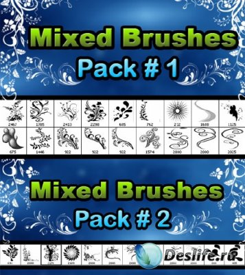 Floral brushes pack - Кисти для Фотошопа