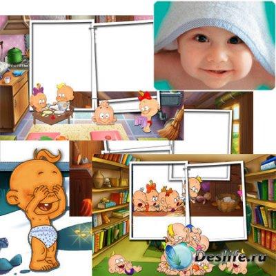 Очаровательные детские рамочки для Карапузиков