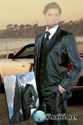 Мужской костюм для фотошопа - Моё время