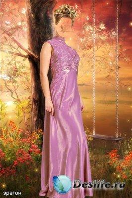 Женский костюм для фотошопа – У качели