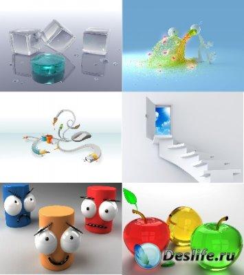 Обои для рабочего стола с элементами 3D графики