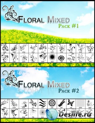 Floral Mix Brushes - Кисти для Фотошопа