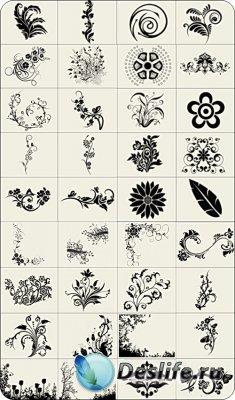 Кисти - Орнаменты из цветов
