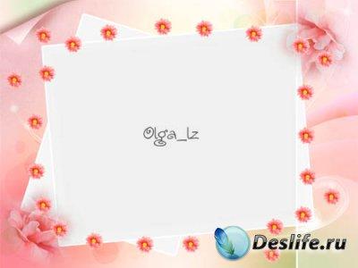 Рамка для фотошопа с цветочками