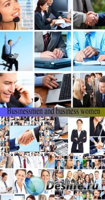 Stock Photo: Businessmen and business women