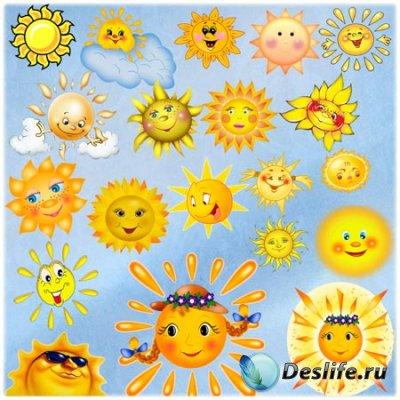 Клипарт для фотошопа - Солнечный
