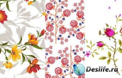 Цветы - Векторная текстура для фотошопа