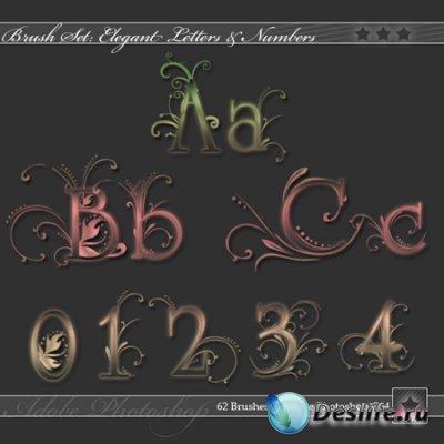 Кисти - Изящные буквы и цифры