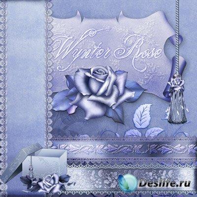Скрап-набор для фотошопа - Wynter rose / Зимняя роза
