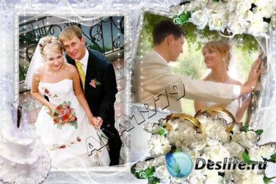 Свадебная рамка для фотошопа - Вместе навсегда