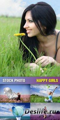 Stock Photo - Happy Girls
