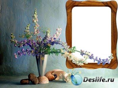 Рамка для фотошопа - Красок букет