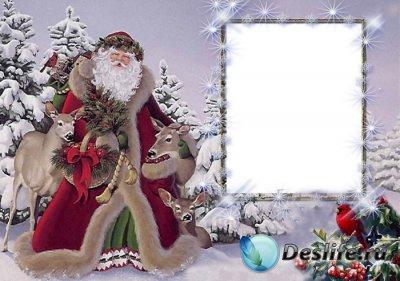 Рамка для фотошопа - Новогодняя 3