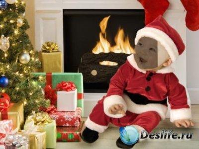 Костюм для фотошопа – Маленький Санта