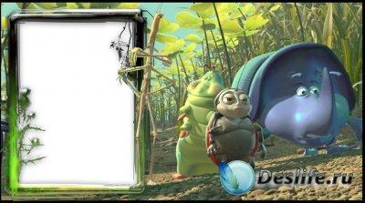 Детская рамка-мультяшка для фотошопа - Жизнь жуков