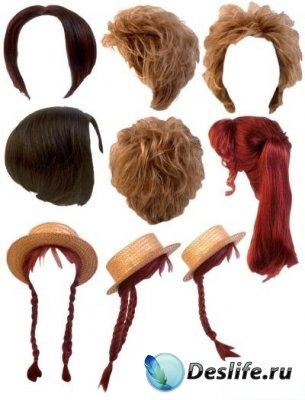 Женские парики для фотошопа. Часть 2