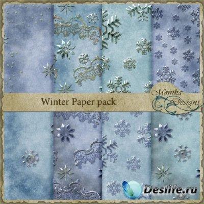 Winter Paper pack - Фоны для фотошопа