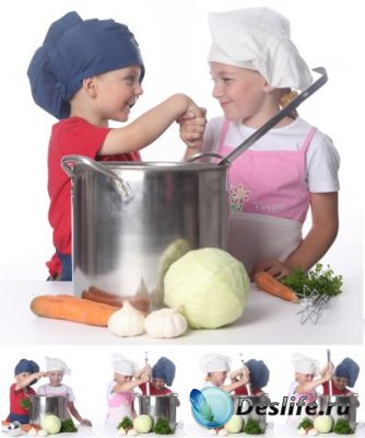 Stock Foto - Юные кулинары