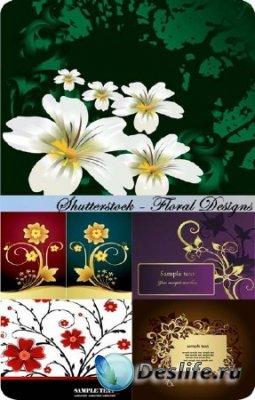 Клипарт цветы Designs - Красивый векторный цветы и уголки