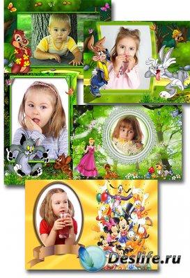 Детские рамки для фотошопа - герои Диснея