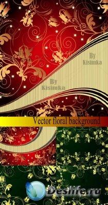 Vector floral background - Фоны для фотошопа