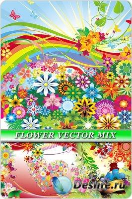 Цветочные узоры в векторе