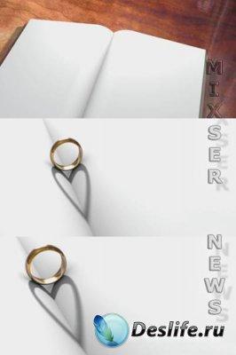 Футаж - Книга Обручального кольца (iStockvideo - Wedding Ring Book)