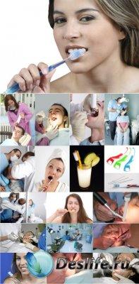 Stock Foto - У стоматолога