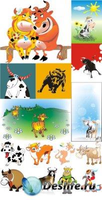 Сельские животные - Коровы и быки