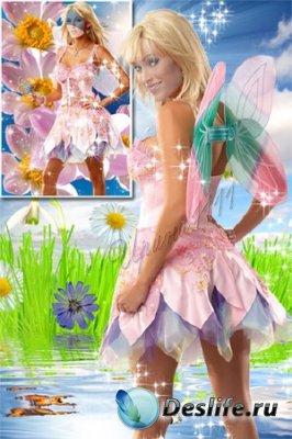 Женский костюм для фотошопа - Фея цветов