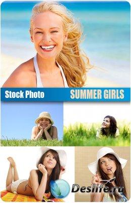 Stock Photo - Summer Girls