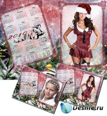 Календарь-рамка для фотошопа на 2010 год
