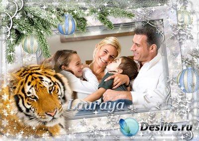 Рамка для фотошопа – Под знаком тигра
