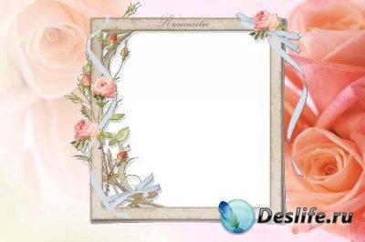 Рамка для фотошопа – Романтика роз