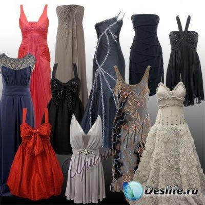 Женские вечерние платья для фотошопа