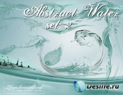 Abstract Water 2 - Кисти для Фотошопа