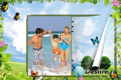 Рамка для фотошопа - Семейный отдых