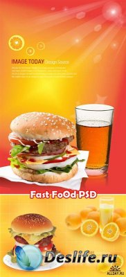 Fast Food - PSD исходники для фотошопа