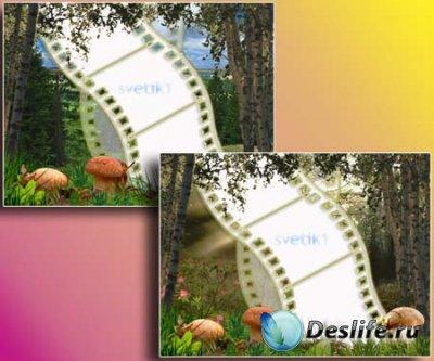 Рамка для фотошопа - Лес