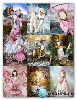 Сборник детских костюмов для фотошопа - Девочки